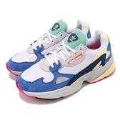 【海外限定】adidas 老爹鞋 Falcon W 彩色 藍 麂皮鞋面 老爺鞋 爸爸鞋 運動鞋 女鞋【ACS】 BB9174