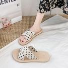 草編鞋 鞋子女新款拖鞋女夏季外穿草編底沙灘鞋平底防滑涼拖-Ballet朵朵