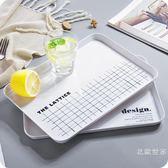 長方形密胺托盤 北歐客廳放水杯茶盤零食點心水果盤餐盤促銷大降價!