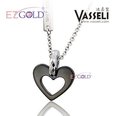 VASSELI ◤黑桃心◢ 鎢鋼墜飾