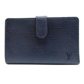 路易威登 LOUIS VUITTON LV 藍色EPI水波紋牛皮雙摺萬用中夾 M6324B 【BRAND OFF】