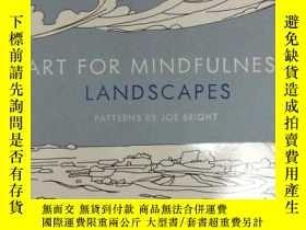 二手書博民逛書店Art罕見for Mindfulness: Landscapes