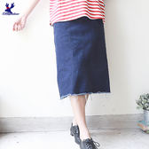 American Bluedeer-抽鬚牛仔裙 春夏新款