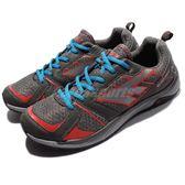 【六折特賣】 HI-TEC 越野慢跑鞋 Haraka Trail 灰 橘紅 藍 輕量 戶外鞋 男鞋 【PUMP306】 A003393054