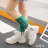 女童馬丁靴英倫風單靴2020秋季新款中大童皮靴男童靴子休閒兒童鞋 聖誕節免運