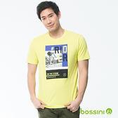 印花短袖T恤18亮綠-bossini男裝