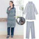 月子服 哺乳衣兩件套 翻領授乳衣兩件式 套裝/居家睡衣/產前睡衣/產後哺乳/多穿孕婦裝【AA0008】
