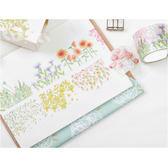 紙膠帶│熱鬧的花園寬版和紙膠帶/單捲