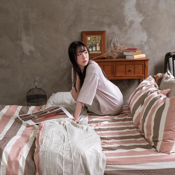 奈良小路 Q3 雙人加大床包與雙人新式兩用被五件組 100%精梳棉 台灣製 棉床本舖