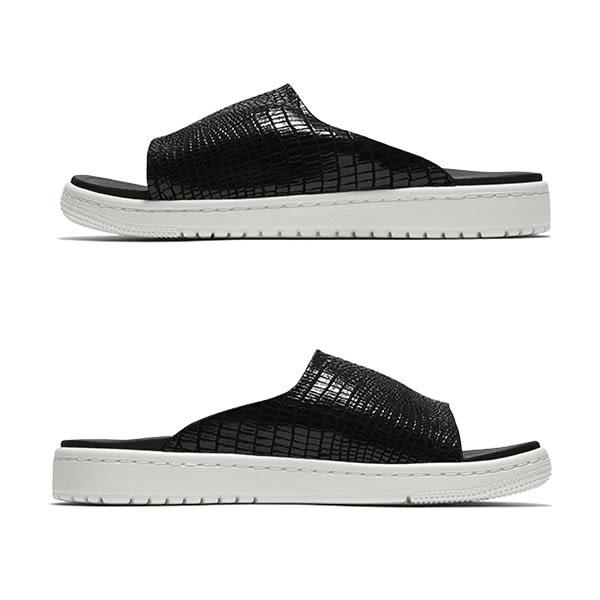 ▲Nike 拖鞋 Wmns Jordan Modero 1 黑 米白 高質感 蛇紋壓紋 喬丹 女鞋 涼拖鞋 AO9919-004