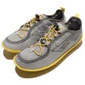 HI-TEC Zuuk W 絲瓜鞋 戶外專用品牌 灰 黃 輕量休閒鞋 女鞋【PUMP306】 O002518012