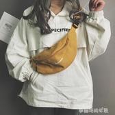 小包包女新款潮韓版個性帆布胸包INS時尚休閒簡約斜背包腰包 夢露時尚女裝