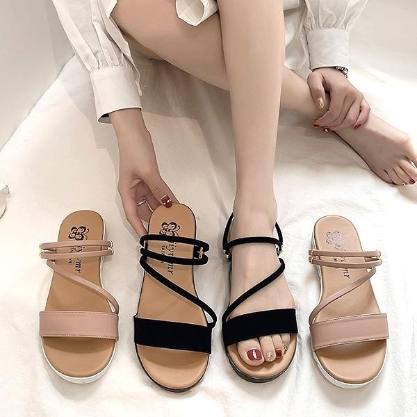 【兩穿涼拖鞋】MIT百搭休閒厚底拖鞋 白鳥麗子(二色任選 / 最後促銷)