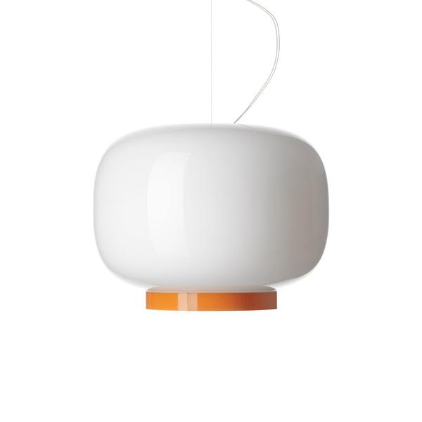 Foscarini Chouchin Reverse 1 Suspension Lamp 40cm 彩色蘑菇 顛覆版系列 吊燈 - 型號 1 橘色環
