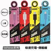 【Micro傳輸線】鴻海 InFocus M510 M511 M518 充電線 傳輸線 2.1A快速充電 線長100公分