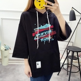 胖MM大碼女裝印花連帽T恤韓版學生連帽寬鬆上衣 奇思妙想屋