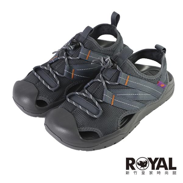New Balance 灰色 機能 厚底 護趾 穩定 涼鞋 男款 NO.H3597【新竹皇家 SD4205GR】