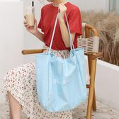 帆布袋 素色 字母 細肩帶 手提包 帆布包 單肩包 環保購物袋--手提/單肩【ALSR1089-8】 BOBI  10/10