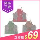 多功能時尚條紋可擦手防水防油口袋圍裙(1...