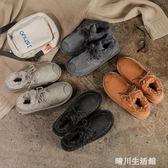 雪地靴女2018新款冬潮加絨女學生韓版短筒棉鞋網紅百搭冬季女短靴 晴川生活館