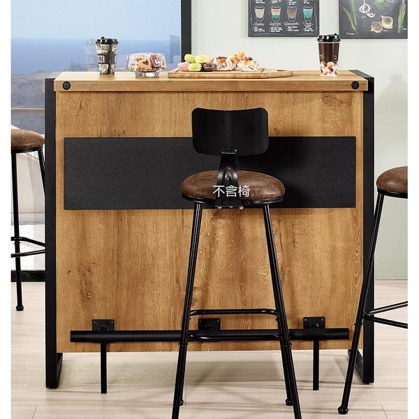 【森可家居】布朗克斯4尺吧台桌 8CM908-1 可置物 收納 木紋質感