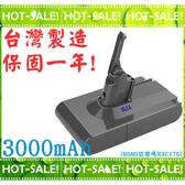 《台灣製造保固一年》GreenR3 3000mAh Dyson V8 系列吸塵器適用 鋰電池 (台南可來店更換免工資)