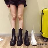 馬丁靴女冬加絨瘦瘦煙筒切爾西短靴厚底英倫風靴子【毒家貨源】