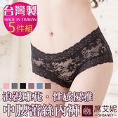 女性中腰蕾絲褲  浪漫雕花蕾絲 台灣製造 No.1107 (5件組)-席艾妮SHIANEY