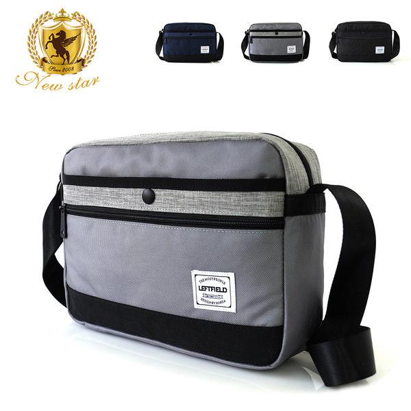 側背包 時尚拼接防水前口袋斜背包 porter風 NEW STAR BL135