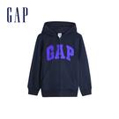 Gap男童 Logo棉質刷毛內裡連帽外套 554448-藏青色