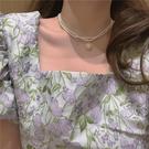 項鏈雙層珍珠頸鏈鎖骨鏈脖子復古宮廷風飾品女【少女顏究院】