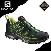 【SALOMON 索羅門 男 X ULTRA 2 GORE-TEX低筒登山鞋《綠/黑》】391840/登山鞋/露營/健行
