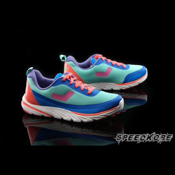 PONY START G 粉綠粉藍橘鞋帶 歐陽妮妮 復古慢跑鞋 女 # 61W1ST66CB ☆SP☆