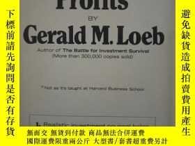 二手書博民逛書店The罕見Battle For Stock Market ProfitsY364682 Loeb Gerald