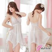 情趣用品【Gaoria】嬌媚電力 透視睡襯衣 性感情趣睡衣 白 N4-0054