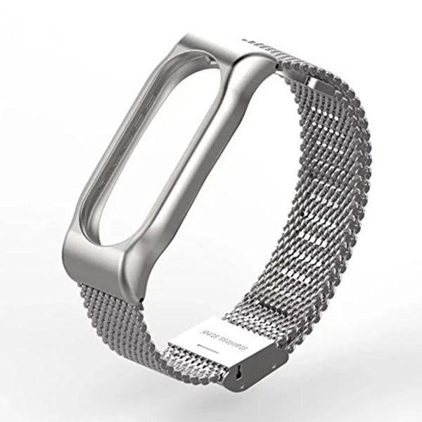 【SZ64】小米手環2代 專屬金屬錶帶 替換錶帶腕帶 磁吸式 固定殼 OLED顯示 金屬替換帶 磁吸式錶帶