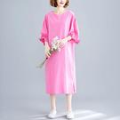 圓領花苞袖洋裝-大尺碼 獨具衣格 J24...