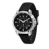 MASERATI 瑪莎拉蒂 經典三眼計時矽膠錶帶腕錶44mm(R8871621014)