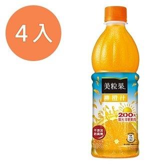 美粒果 柳橙果汁飲料 450ml (4入)/組【康鄰超市】