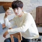 『潮段班』【HJ718832】韓版素色緹花保暖套頭毛衣T恤