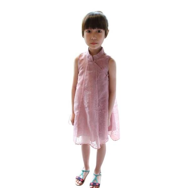 2020夏裝童裝韓版中小童女童寶寶旗袍蕾絲連衣裙短袖禮服公主0182兒童洋裝
