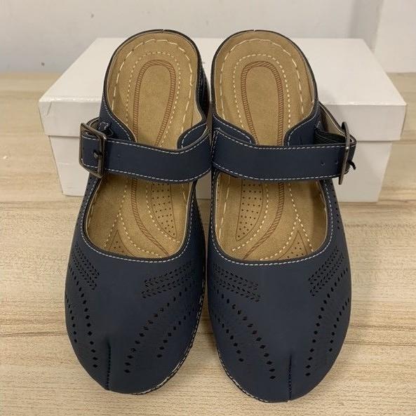 韓版休閒扣帶包鞋懶人鞋涼鞋涼拖鞋(36號/777-9960)