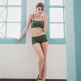 無鋼圈內衣平口褲組 無縫透氣S-XL(軍綠)《Life Beauty》
