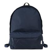 【南紡購物中心】agnes b.條紋織布鐵環尼龍後背包(深藍)