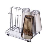 ASVEL SPOSE 不鏽鋼水杯架廚房杯具收納馬克杯咖啡杯茶杯桌上型瀝水架清潔衛生
