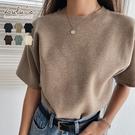 LULUS-Y圓領厚磅針織短袖上衣-6色  【01190881】