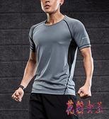 健身服男套裝運動套裝男夏季跑步服速干衣健身房籃球訓練服兩件套 QX14682【花貓女王】