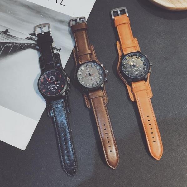 手錶男潮流韓版個性學生抖音中國警特種兵男士大錶盤超大  伊衫風尚