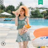 游泳衣女ins風日擊可愛2019新款保守分體顯瘦學生韓國仙女范泳裝