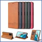 小米 紅米9T 紅米Note10 紅米Note10 Pro 小米 11 Lite 5G 隱扣牛紋 手機皮套 插卡 支架 磁吸 保護套 手機套